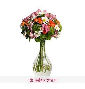 Bir Bahar Akşamı Çiçek Aranjmanı